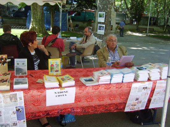 Salon du livre à Lunel ( 34) avec Nadine COSTA  le 19 juin 2011